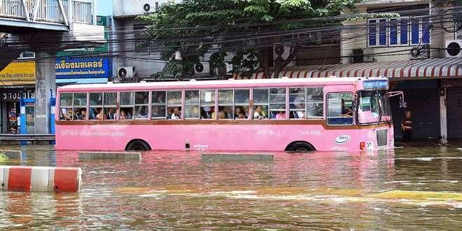 เส้นทางเดินรถช่วงน้ำท่วม