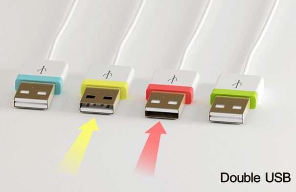 Double U USB Port