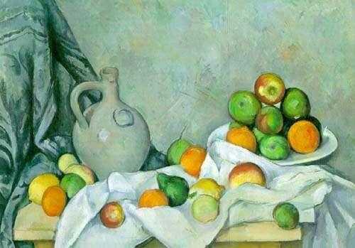 Rideau, Cruchon et Compotier by Paul Cezanne